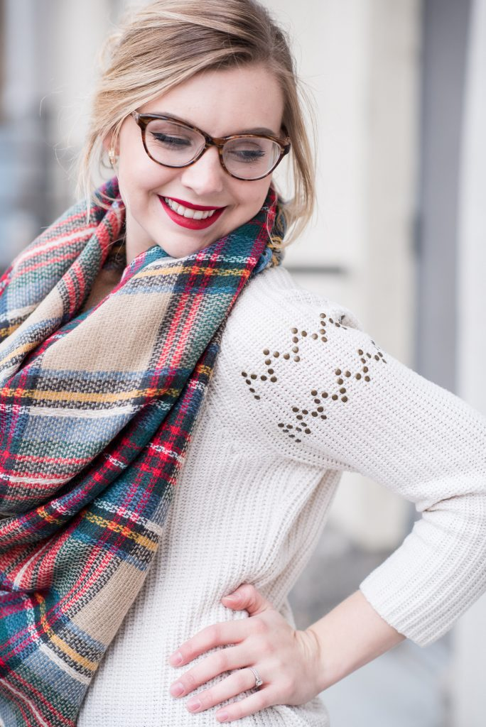 blondeandambitiousblog.com // STYLING BLANKET SCARVES AND DUCK BOOTS