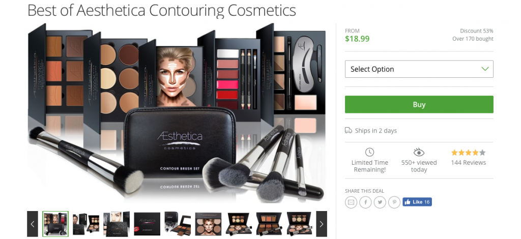 GET YOUR HALLOWEEN BEAUTY FIX WITH GROUPON