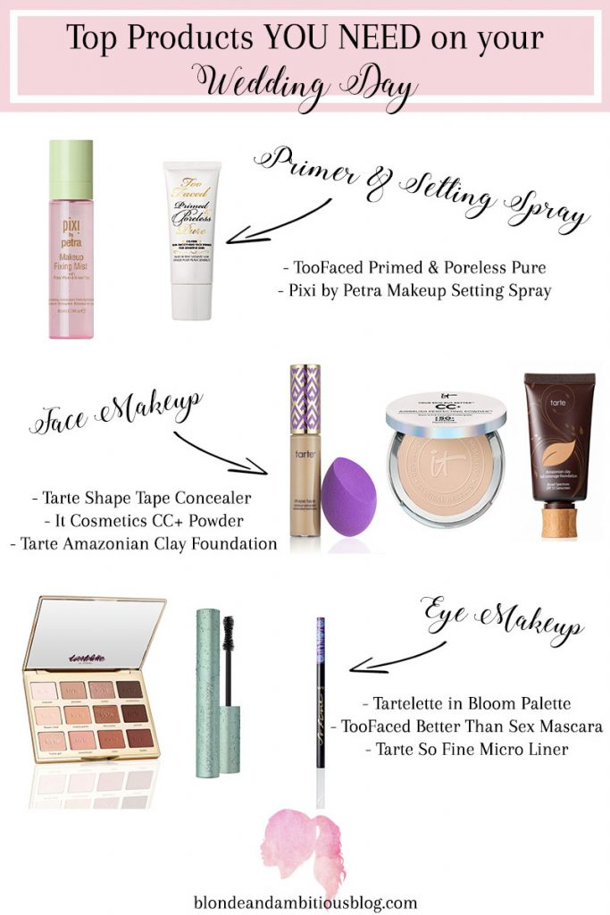 The Top Makeup Products You NEED For Your Wedding Day