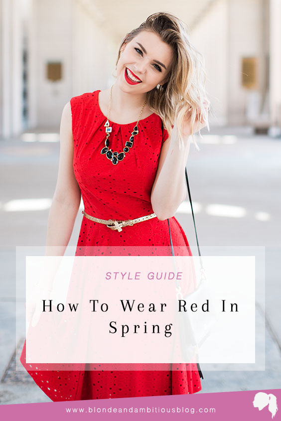 red in spring