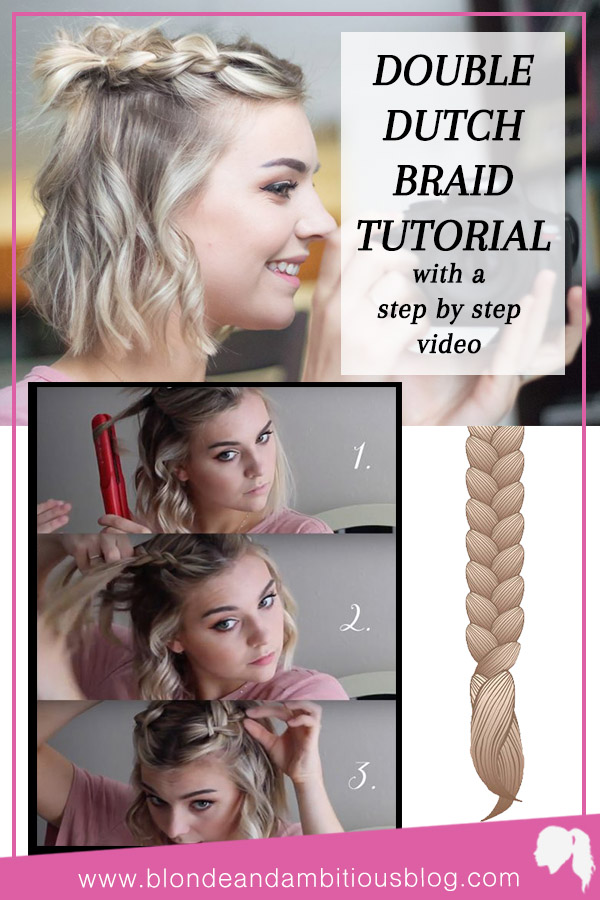 Double Dutch Half Up Braid Tutorial Blonde Ambitious Blog