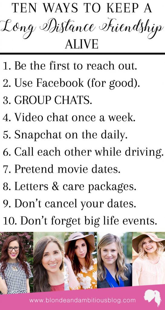 10 Ways To Keep A Long Distance Friendship Alive