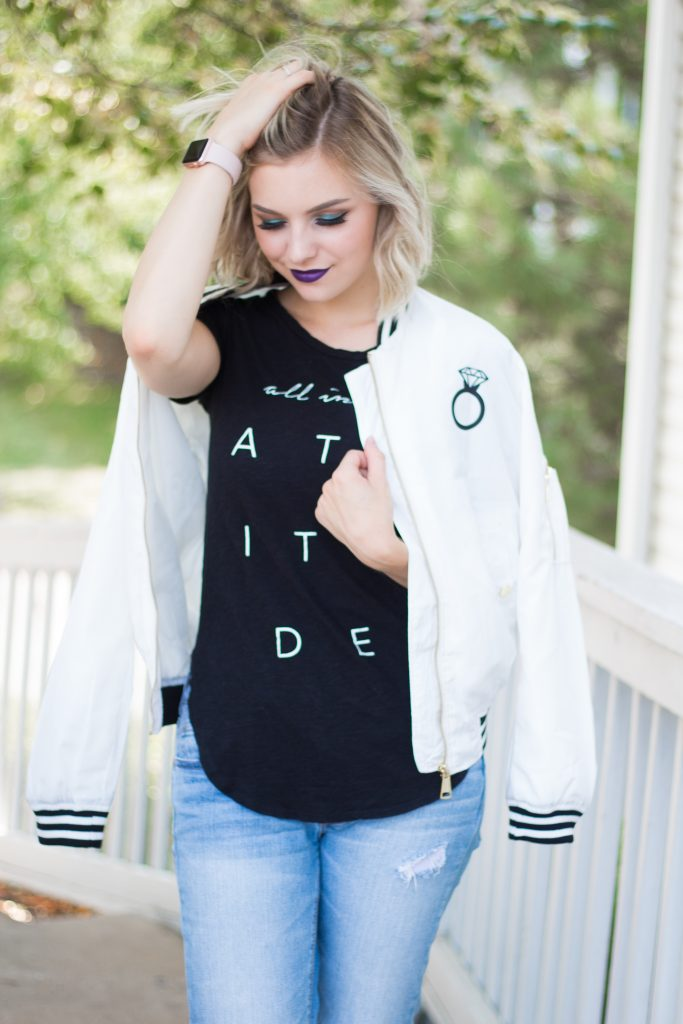 How To Style A Graphic Bomber Jacket