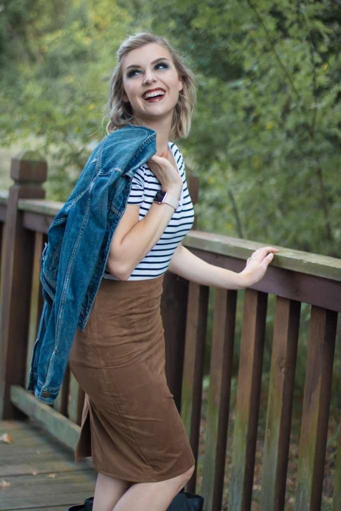How To Style A Suede Skirt For Fall