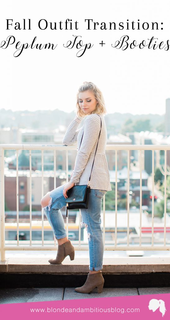 Fall Outfit Transition: Peplum Top + Booties