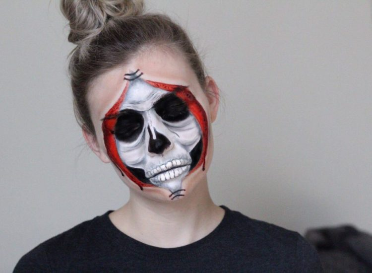 Halloween Tutorial Series: Peeled Back Skull Face