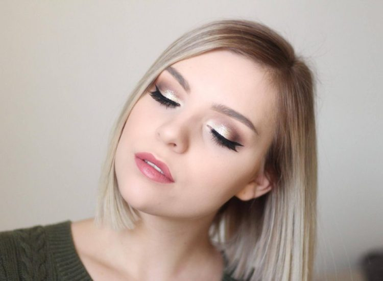 Easy Glitter Cut Crease For Thanksgiving