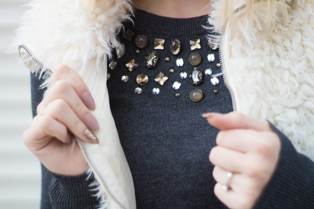 How To Pull Off Embellished Necklines