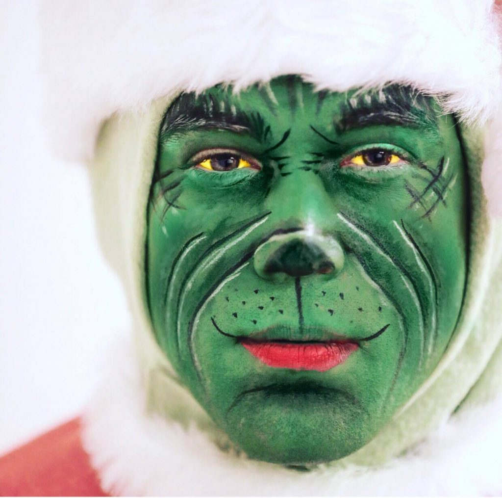 Grinch Makeup Tutorial On My Husband