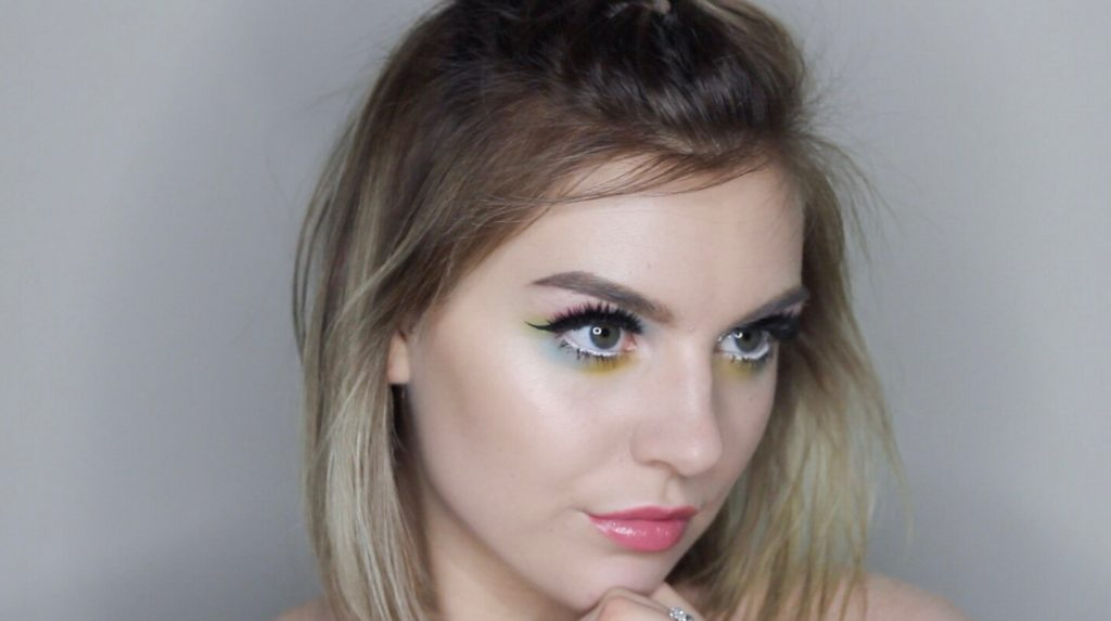 Watercolor Eye Shadow + Graphic Wing Tutorial