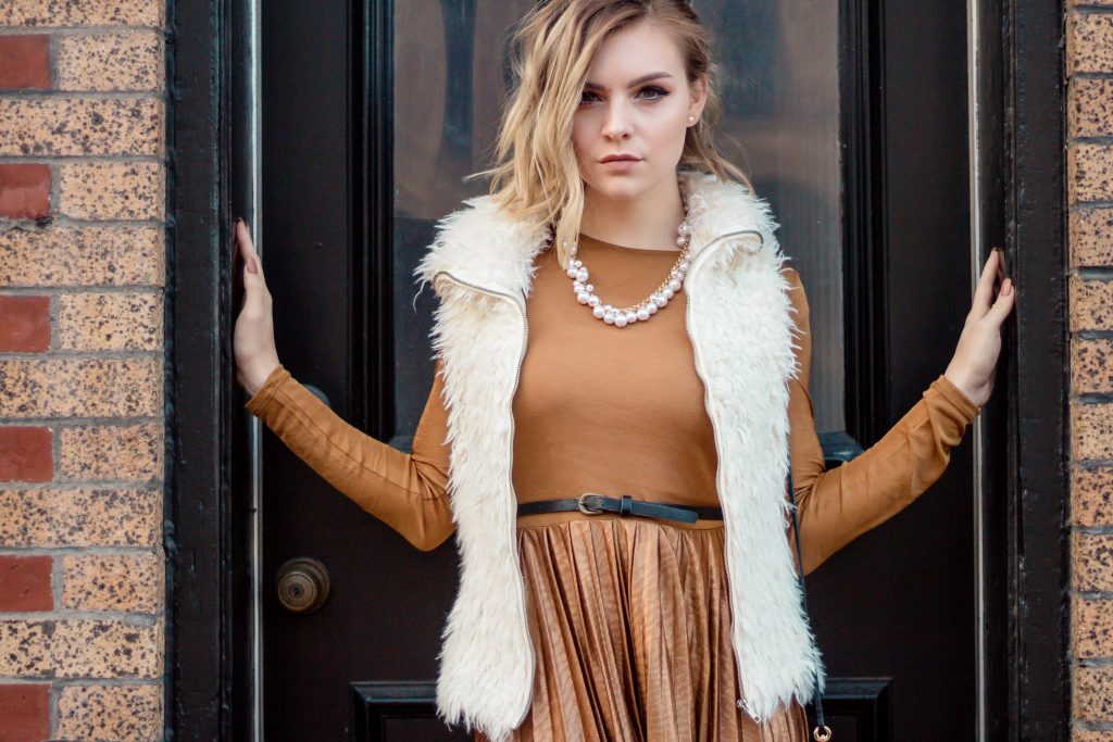 How To Style A Metallic Dress