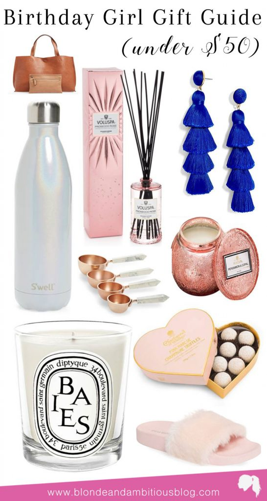 Birthday Gift Guide Under 50 For Her Blonde Ambitious