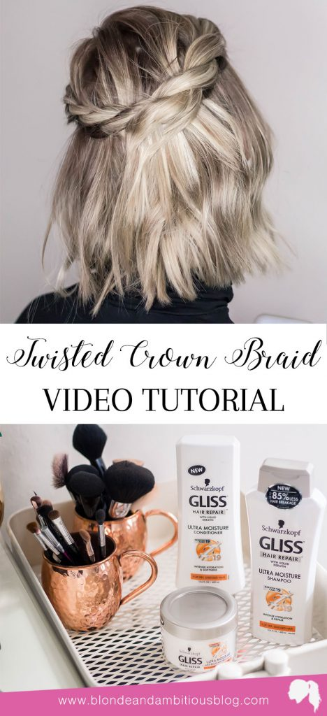 New Year #NewHair - How To Beat Winter Dryness + An Easy Twisted Crown Tutorial