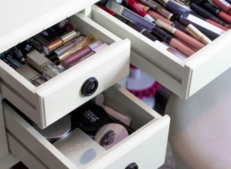 Going Through My ENTIRE MAKEUP COLLECTION + Makeup Storage Hacks!