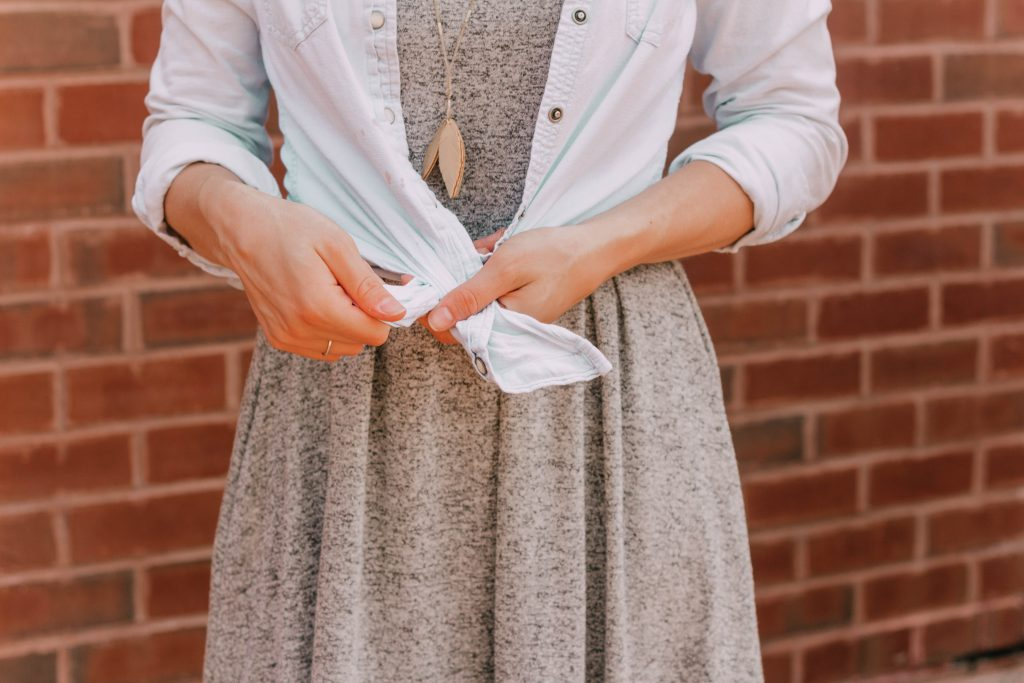 The Classic Chambray Top Tied THREE WAYS