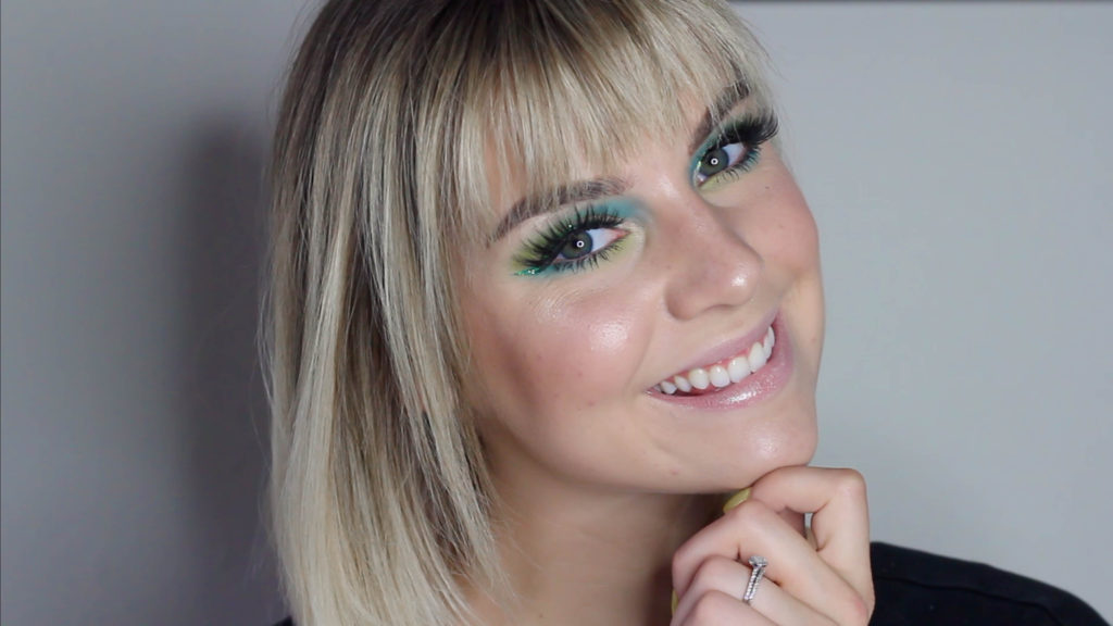 Blue & Green Glitter Liner Tutorial