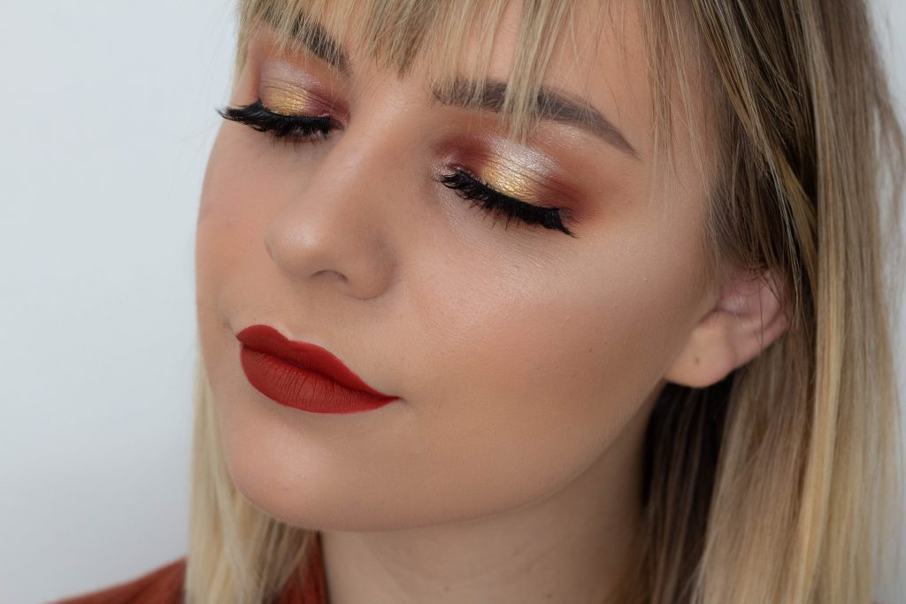 Pumpkin Spice Halo Eye Tutorial