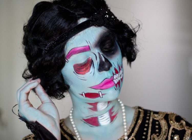 HALLOWEEN TUTORIAL SERIES: POP ART ZOMBIE FLAPPER GIRL