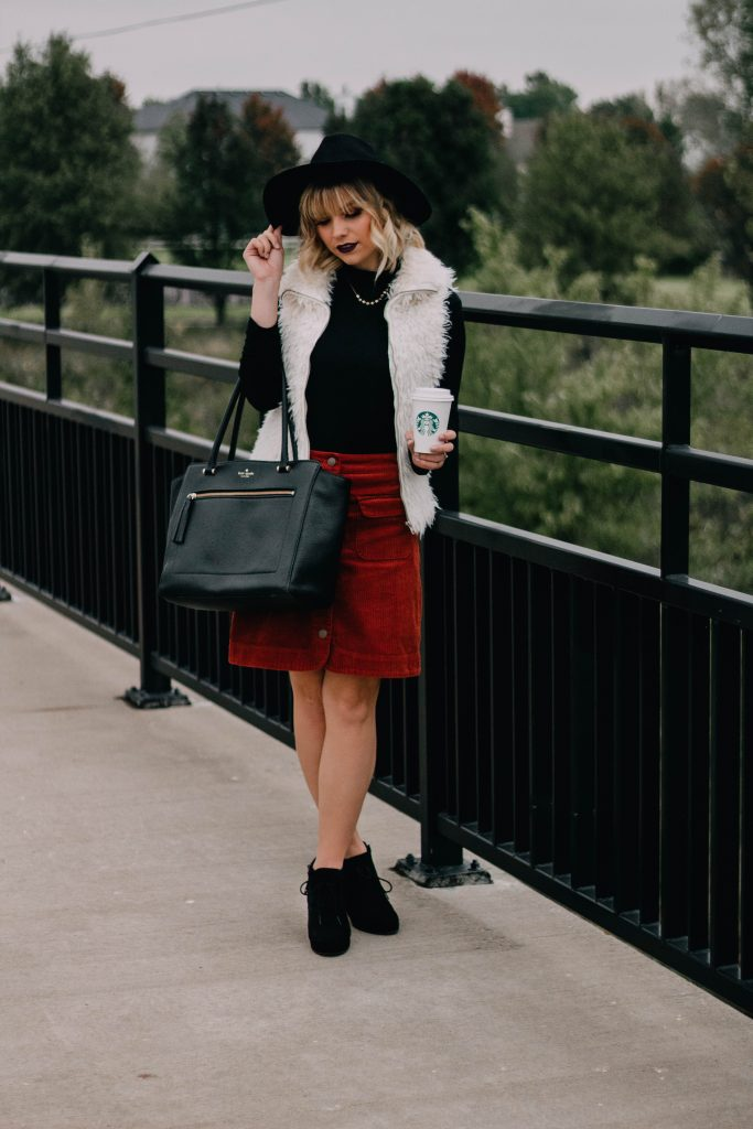 FALL TREND ALERT: Corduroy Mini Skirt