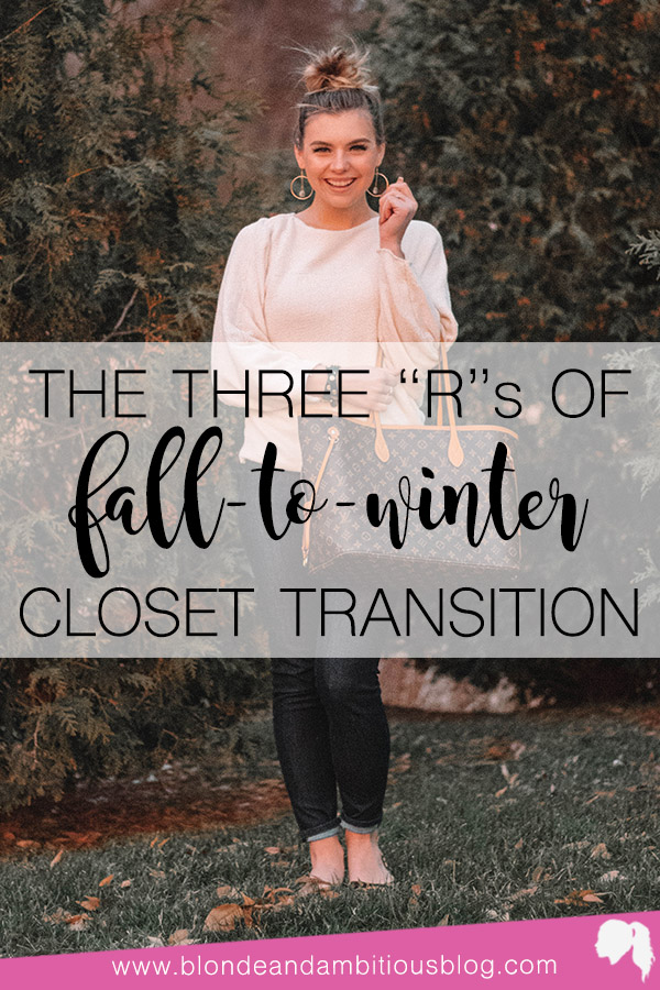 "The Three ""R's"" Of Fall-To-Winter Closet Transition"