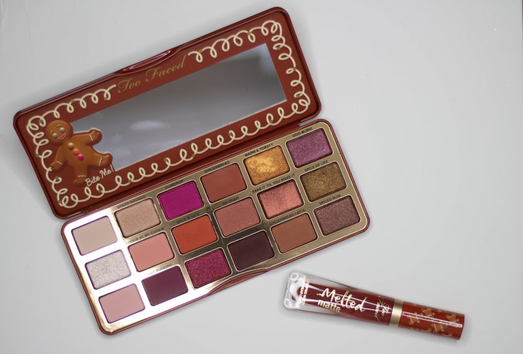 TooFaced Gingerbread Spice Holiday Collection: Tutorial, Swatches, Opinion