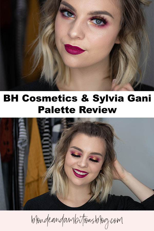 BH Cosmetics x Sylvia Gani Eyeshadow Palette Review: Swatches, Ingredients, Opinion