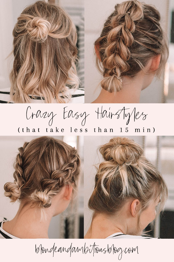4 Go To Hairstyles That Take Less Than 15 Minutes Blonde