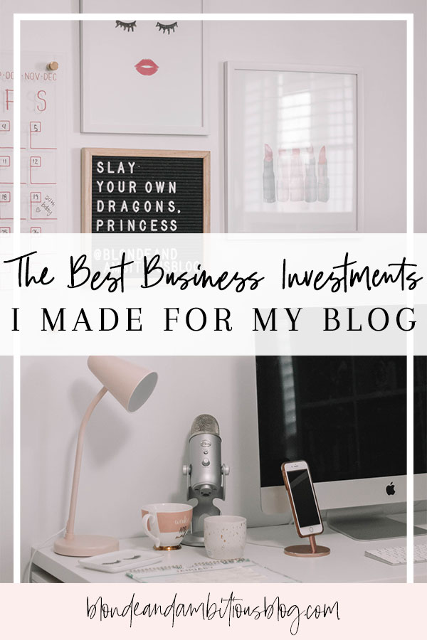 The Best Investments I Made For My Blog
