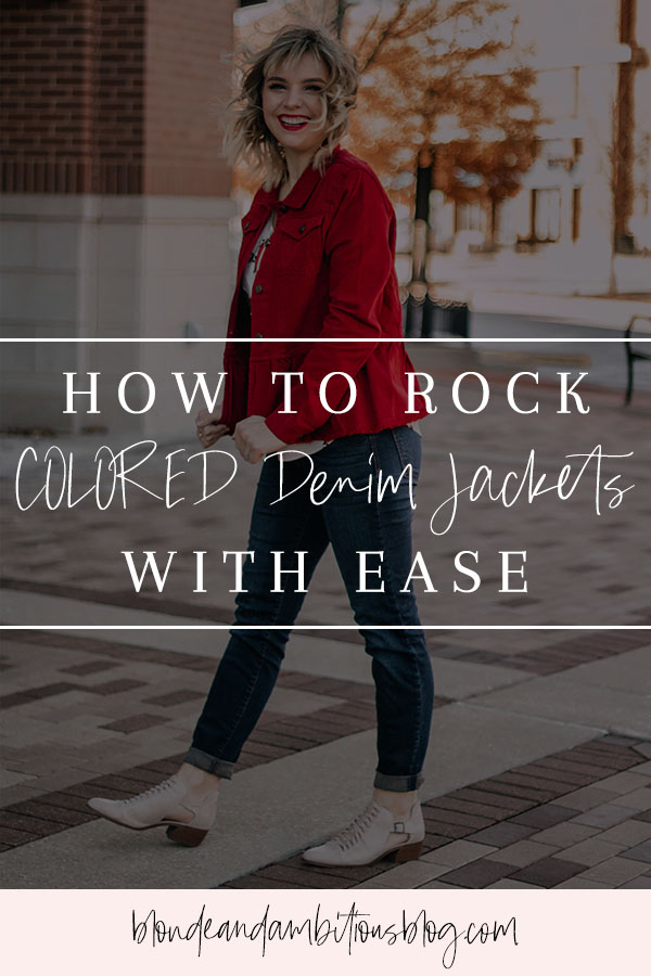 How To Rock COLORED Denim Jackets With Ease