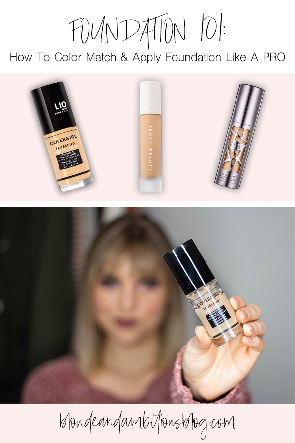Foundation Basics 101: How To Color Match & Apply Foundation Like A PRO