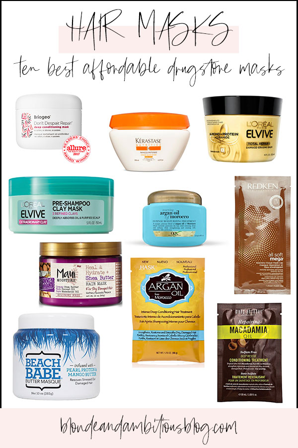 TEN of the Best AFFORDABLE Hair Masks