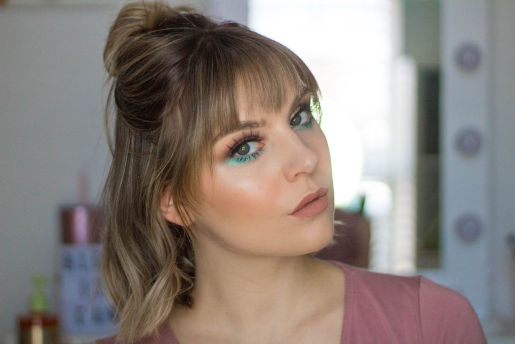 Neutral Eye Look With Pop of Teal - TUTORIAL