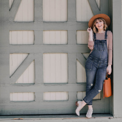 Rocking Maternity Overalls In The Spring