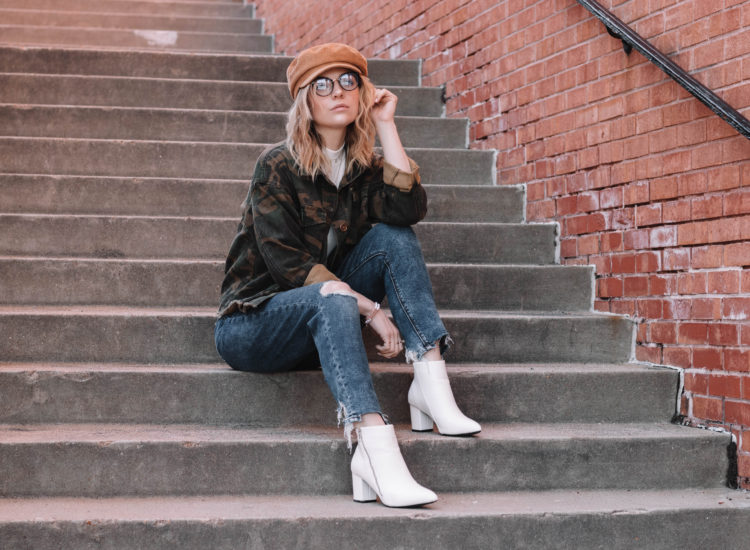 camo jacket white booties-11