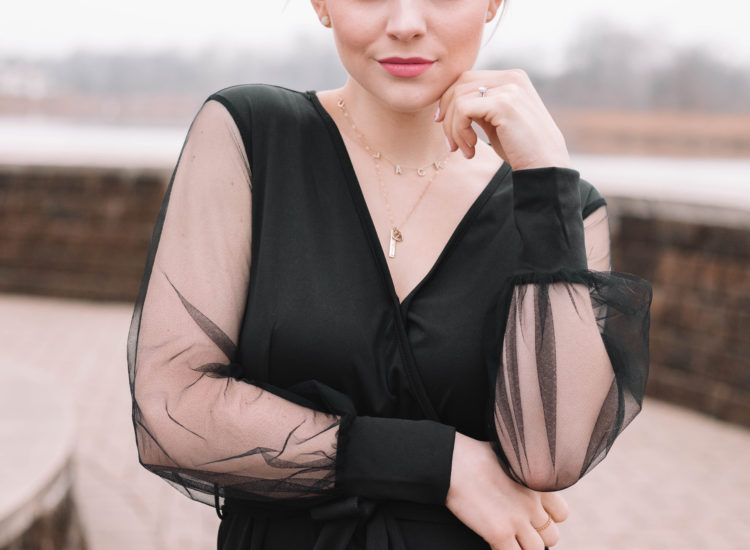 HOW TO STYLE: Sheer Sleeved Black Jumpsuit *Valentine's Day INSPO*