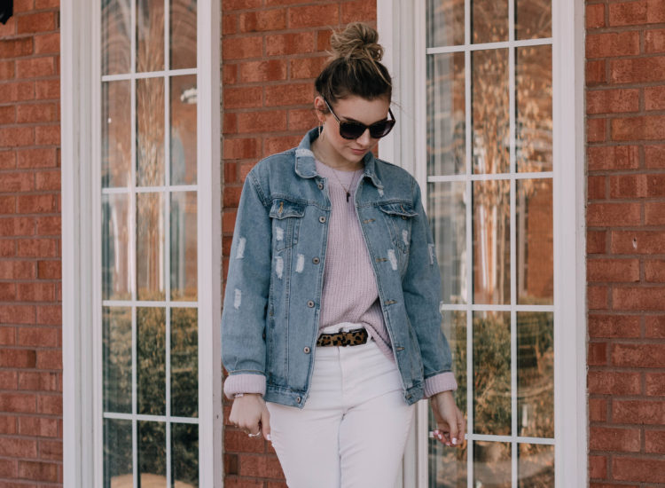 SPRING OUTFIT INSPO: White Denim x Pastel Sweater